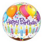 Bubble 22 Polegadas - Balões e Velas de Aniversário - Qualatex