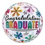 Bubble 22 Polegadas - Parabéns Graduado e Estrelas - Qualatex