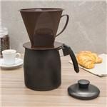 Bule de Café Antiaderente com Porta Filtro 1,1L Preto - Dona Chefa