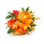 Buquê Alegria de Flores Laranjas M