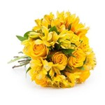 Buquê Sunshine com Flores Amarelas M