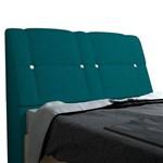 Cabeceira Itália para Cama Box Casal 1,95 Cm Suede Azul Turquesa - JS Móveis