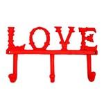 Cabideiro de Ferro Love Vermelho