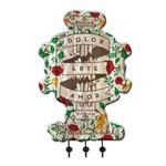 "Cabideiro Frida Kahlo ""dolor, Arte, Amor"" - Urban"