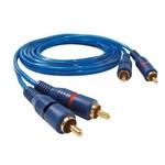 Cabo de Audio 2rca + 2rca 1.80 Metros Azul