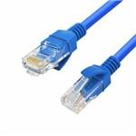 Cabo de Rede Azul 5 Metros Rj45 Crimpado Cat5e Internet Lan