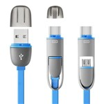 Cabo 2 em 1 Type C e Micro Usb 1,5m Wi352 Multilaser
