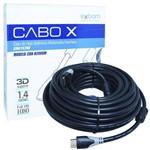 Cabo Hdmi Macho/Macho 20 Metros com Filtro Emborrachado Blindado Full HD 1080 Exbom CBX-H200SM Preto