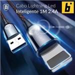 Cabo Lightning com Luz Integrada 2.4a 1 Metro