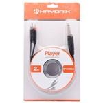 Cabo para Áudio 2P10 X 2RCA 2 Metros Player Preto - Hayonik