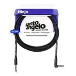 Cabo Santo Angelo 24407 Ninja L 10ft Plg90° 3,05m Embo.p10 P/inst.metal Preto