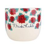 Cachepot Ceramica Fk Beautiful Flowers Fd Branco