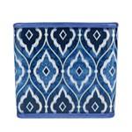 Cachepot Ceramica Squared Marrocan Blue Azul Gde