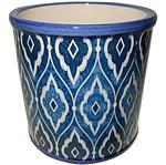 Cachepot de Cerâmica Azul Marroquino Grande Urban