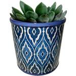 Cachepot de Cerâmica Azul Marroquino Pequeno Urban