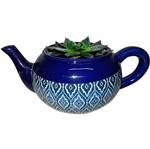 Cachepot de Cerâmica Azul Teapot Marrocan Urban