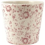 Cachepot de Cerâmica Branco e Vermelho Marselha 6490 Mart
