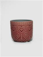 Cachepot de Ceramica Coração Vermelho