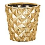 Cachepot de Cerâmica Dourado Lapidado 8642 Mart