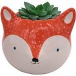 Cachepot de Cerâmica Laranja Fox Urban
