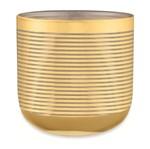 Cachepot de Vidro Dourado 15cm Alison Mart