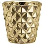 Cachepot Dourado em Cerâmica