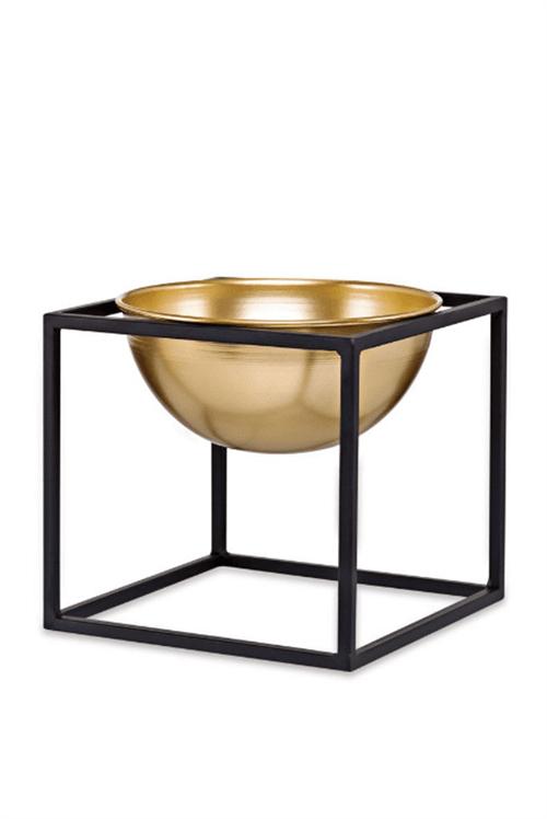 Cachepot em Metal Dourado com Suporte P
