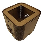 Cachepot Porta Objetos em MDF de Encaixe 11x11x11cm Árvore - Palácio da Arte
