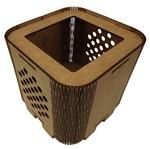 Cachepot Porta Objetos em MDF de Encaixe 11x11x11cm Poá - Palácio da Arte