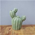 Cactus Berrel Decorativo em Cerâmica - 16x13 Cm - Cor Verde - 41181