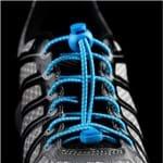 Cadarço Elástico Runlastic Azul Celeste/Branco