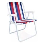 Cadeira Alta Aço Azul, Vermelho e Branco – MOR