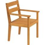 Cadeira com Braços Fixa Varanda Tropical de Madeira Natural - Tramontina