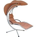 Cadeira de Balanço para Jardim Balance Aço Bege - Mor