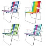 Cadeira de Praia Alta em Aluminio 1 Unidade Bel