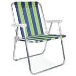 2 Cadeira de Praia Mor Alta Dobravel em Aluminio