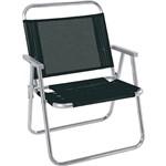 Cadeira de Praia Reforçada Oversize Preta Mor