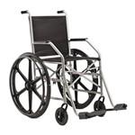 Cadeira de Rodas em Aço - Ortopedia Jaguaribe - 1009 - Pneu Maciço