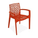 Cadeira Decorativa com Braços, Laranja, Gruvyer