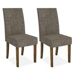 Cadeira Decore Sala de Jantar (kit 2 Und), Padrao - Demolição/Linho Bronze