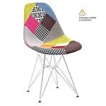 Cadeira Eames DKR - Patchwork - Base Cromada