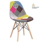 Cadeira Eames DSW - Patchwork - Madeira Clara