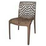 Cadeira Gruver Polipropileno Marrom