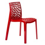Cadeira Gruvyer - Polipropileno - Vermelho