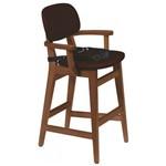 Cadeira Infantil Estofada com Cinto London Tramontina Amêndoa/Café