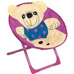 Cadeira Lua Ursinho Mor Rosa