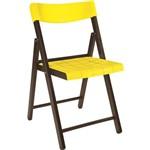 Cadeira Potenza Tabaco com Amarelo