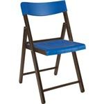 Cadeira Potenza Tabaco com Azul