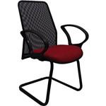 Cadeira Presidente Tela Fixa Vermelha - At.home