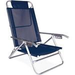 Cadeira Reclinável Alumínio 5 Posições Azul